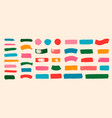 set of colorful brush strokes lines hand painted vector image