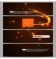 Set of modern banners Abstract lines background vector image vector image