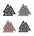 set valknut symbols flat and line style vector image