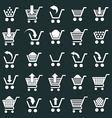 Shopping cart icons set supermarket shopping vector image vector image