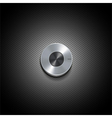 silver control buttonl vector image vector image