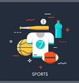 sports flat concept vector image