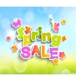 Spring sale vector image vector image
