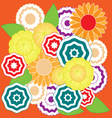 Springtime colorful flower pattern vector image