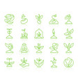 sprout simple color line icons set vector image vector image