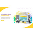 system administrator landing page website vector image