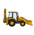 technical draw of tractor vector image