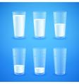 transparent realistic glasses milk vector image vector image