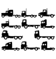 Truck silhouettes vector image vector image