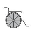 wheel chair line filled icon vector image vector image