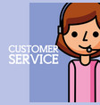 woman dispatcher employee customer service vector image