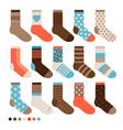 colorful pastel cute socks vector image