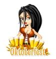 Oktoberfest celebration background vector image
