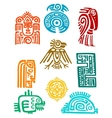 Ancient maya elements and symbols vector image