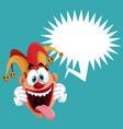 funny jester bubble speech vector image