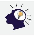 idea bulb in stylized monkey head vector image