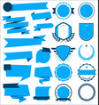 a collection various blue ribbons badges and vector image