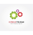 Abstract gear logo icon concept Logotype template vector image