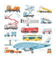airport vehicle aviation transport in vector image vector image