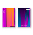 artistic cover set design neon blurred purple vector image