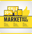 banner sale phones and computers vector image vector image