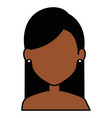 beautiful black woman shirtless avatar character vector image vector image