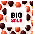 big sale balloon market frame on white vector image
