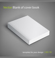 blank of book cover template vector image vector image