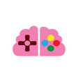 brain and analog gaming master console gamer vector image vector image