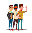 brotherhood multiethnic male friends vector image