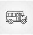 bus icon sign symbol vector image vector image