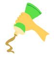 cartoon with mustard squeeze vector image vector image