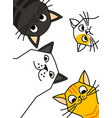 cat meme cats are talking to you vector image vector image