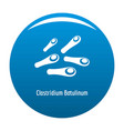 clostridium botulinum icon blue vector image