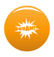comic boom wham icon orange vector image