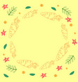 cute yellow template with carrots and flowers vector image vector image