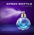 deodorant bottle with translucent water spray mist vector image