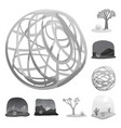 design countryside and pasture symbol vector image vector image