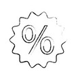 discount percent sale offer price marketing badge vector image