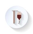 Drop counter flat icon vector image