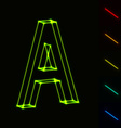 EPS10 glowing wireframe letter A - easy to change vector image vector image