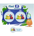 find 7 differences vector image vector image