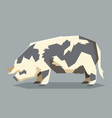 flat geometric kunekune pig vector image vector image