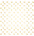 geometric golden and white seamless simple vector image vector image