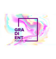 gradient fluid background poster vector image vector image
