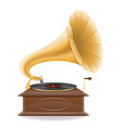 gramophone old retro vintage icon stock vector image vector image