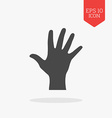 Hand palm icon Flat design gray color symbol vector image vector image