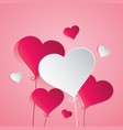 heart balloon on pink background vector image vector image