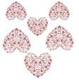 heart print vintage heart design graphic vector image vector image