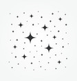 icon sparkles stars pattern vector image